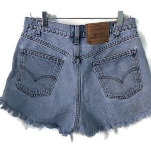 Levi's 550 High Rise Distressed Jean Shorts